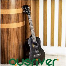 New Wooden Concert Ukulele Four String Hawaiian Guitar Beginner Gift Black Sun