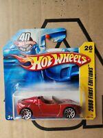 Hot Wheels 2008 -TESLA ROADSTER [DARK RED] NEAR MINT VHTF SHORT CARD