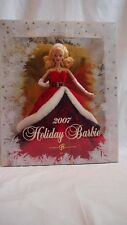 Holiday Celebration Barbie Doll 2007 Rare Mattel Collectors Edition Red K7958
