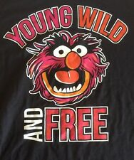 The Muppets Young Wild And Free Xl T Shirt Animal New With Tags Short Sleeve