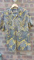 Mens Vintage blue hawaiian shirt Size M