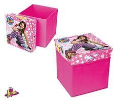Soy Luna Disney Pouf portaoggetti pieghevole Sedia Scatola Contenitore Bambini