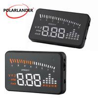 Voiture 3'' HUD Compteur de vitesse Alarm Projecteur Affichage tête haute Speed