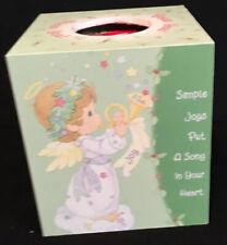 Rare Precious Moments Wooden Tissue Box Cover Includes Unopened Tissue Box!