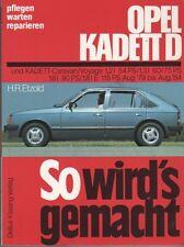 OPEL KADETT D So wird´s gemacht> H.R.Etzold Reparaturanleitung-buch Bd 22