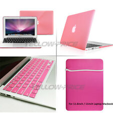 Case Carry Sleeve Bag+Keyboard Cover+Rubberized Hard Case for Macbook Air 11.6''