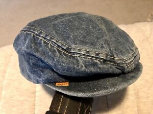 LEVIS orange tab 1970's NEWSBOY DENIM HAT small M vintage jeans BIG e