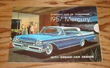 Original 1957 Mercury Full Line Foldout Sales Brochure 57 Montclair Monterey