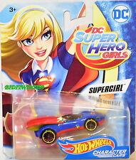HOT WHEELS 2017 DC SUPER HERO GIRLS SUPERGIRL BLUE