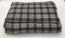 Restoration Hardware Ellis Plaid Queen Sheet Set 100% Cotton Chocolate NEW $189