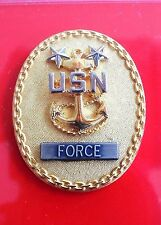 USN NAVY SHIP SHORE AIR FORCE MASTER CHIEF MCPO FULL SIZE QUALIFICATION BADGE