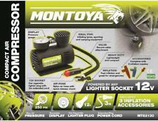 MONTOYA Car Tyre Air Compressor Compact Pump Bike Cycle 3m Cord 12V Inflator