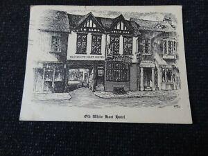 Old White Hart Hotel Postcard Artist Signed Henley on Thames Oxfordshire - 43645
