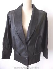 PELINO Vintage 80s Snap Button  Leather Jacket Made in Australia Size 8 US 4