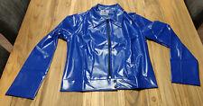 PVC Biker Jacke blau / Biker Jacket blue