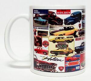 300ml COFFEE MUG - HOLDEN COLLAGE, MONARO FE FJ GTS TORANA SS V8 EH HR UTE PANEL