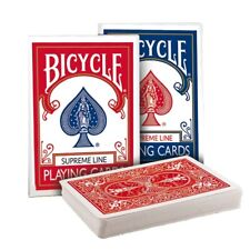 Bicycle Supreme Line Playing Cards - Crushed Stock Rider Back Deck - Red or Blue