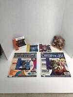 Lot of 5 Sega Dreamcast Magazine Game Demo Discs 3-7, Generator Vol. 1, 2 Mag's