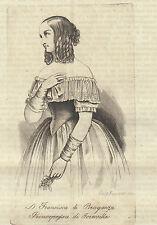 Francesca di Braganza 1844 incisione in rame