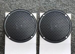 "3"" Boat, Spa, or Shower Marine Audio Speaker Pair Black Vidsonix NEW ATV Moto"