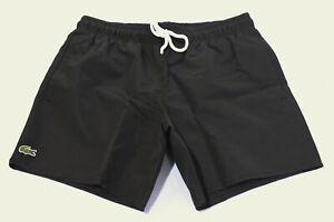 Lacoste Men's Light Quick-Dry Logo Swim Shorts SV3 Black Small NWT