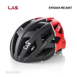 NEW 2021 LAS ENIGMA Road/MTB Cycling Helmet : MATTE BLACK/RED