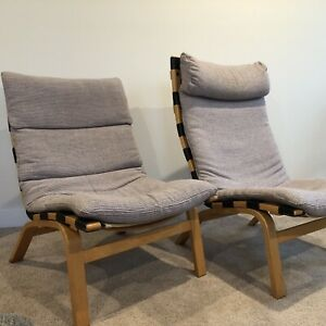 2 Lounge Chairs Rybo Rykken, Designed by Elsa and Nordal Solheim, around 1975