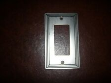 AmerTac Rectangular Cutout Nickel Wall Switch Plate Cover