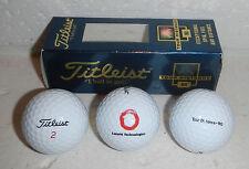 NIB Alcatel Lucent Technologies Company Logo Set of 3 Titleist 2 Golf Balls Box