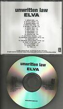 UNWRITTEN LAW Elva w/ ORIGINAL titled trk IT'S ALRIGHT Tst PROMO ADVNCE DJ CD