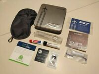 BRAND NEW! Collectable United Airlines 747 Farewell Amenity Tin Kit - Silver