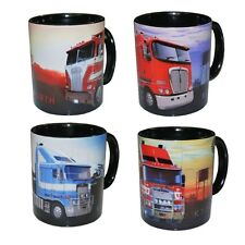 KENWORTH TRUCK K100 K104 K108 K200 Coffee Mug set     Four mugs per set