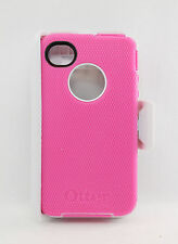 OtterBox Defender Hard Rugged Case for iPhone 4 4S w/Belt Clip Holster Pink USED