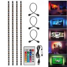4x 50cm USB LED RGB Multi Color Strip Lamp Kit TV Back Light Remote Home Theater