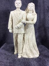"Milestone Moments by Drake #3005 ""Now and Forever"" 2005 Bride Groom Cake Topper"