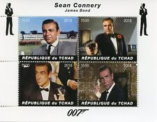 Chad 2018 MNH James Bond Sean Connery 007 4v M/S Movies Film Stamps