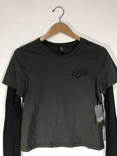 Fox Racing ARMSTRONG Long Sleeve T-Shirt Size: Small Women's Black NWT