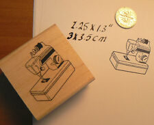 "P22 Sewing machine toy rubber stamp 1.4x1.4"" WM NEW"