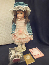 "Vtg 1994 Franklin Mint Heirloom Doll ""Be Be Bru"" by Maryse Nicole w/ Box"