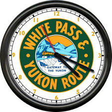 White Pass And Yukon Route Lines Retro Railroad Train Conductor Sign Wall Clock