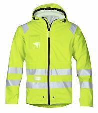 Snickers Workwear 8233 High-Vis Rain Jacket Class 3 Waterproof Yellow PreOrder