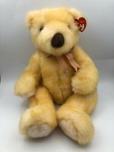 Classic TY Inc 1999 Butterbeary Yellow Teddy Bear Plush Soft Stuffed Toy Animal