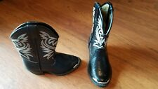 Child's Smoky brand black cowboy boots toddler size 7
