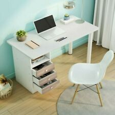 Computer Desk Pc Laptop Table WorkStation Home Office Furniture With 3 Drawers