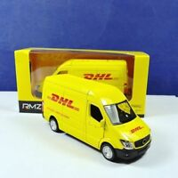 Yellow 1:36 Commerical Vehicle For Express DHL Car Truck Diecast Model Toy Kids