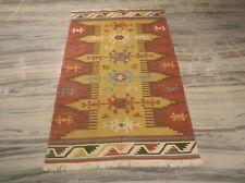Handmade High Knots Quality Afghan Wool Kilim For Girl Bedroom 3'x5' Rug DN-2105