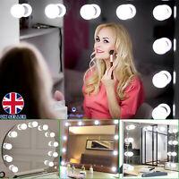 10 Led Bulbs Hollywood Mirror Lights Vanity Makeup Bathroom Dressing Table