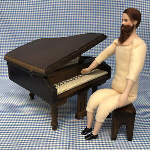 MINIATURE DOLL HOUSE BEARDED MUSTACHED POSABLE MAN *Ready to Dress*Cathy Hansen