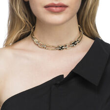 New $265 ALEXIS BITTAR Abstract Buckle Textured Choker Collar Necklace
