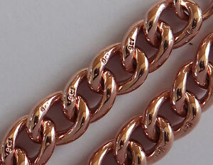 B016 Massive Genuine 9ct SOLID ROSE Gold CURB-LINK Curblink Bracelet 20.5cm